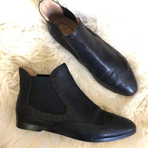 See by Chloe Leather Brogue Chelsea Ankle Boots